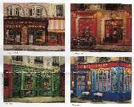 Chez Julien: 4 Sidewalks of Paris Suite 2002 Limited Edition Print by Liudimila Kondakova - 4