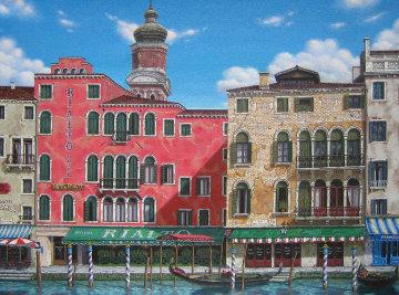 Hotel Rialto 1995 30x40 Original Painting - Liudimila Kondakova