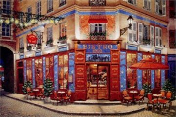Bistro 1900 Limited Edition Print by Liudimila Kondakova