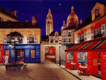 Montmartre Village 1998 Limited Edition Print by Liudimila Kondakova