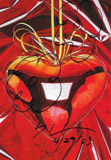 Hanging Heart Drawing Unique 2003 6x4 Drawing by Jeff Koons