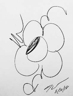 Flowers Sketch Drawing 2018 12x9 Drawing - Jeff Koons