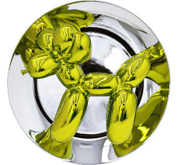 Balloon Dog (Yellow) Porcelain Sculpture 2015 10.5 in Sculpture by Jeff Koons