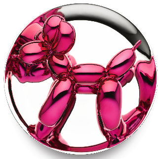 Balloon Dog Plate Porcelain Sculpture (Magenta) 2015 10 in Sculpture - Jeff Koons