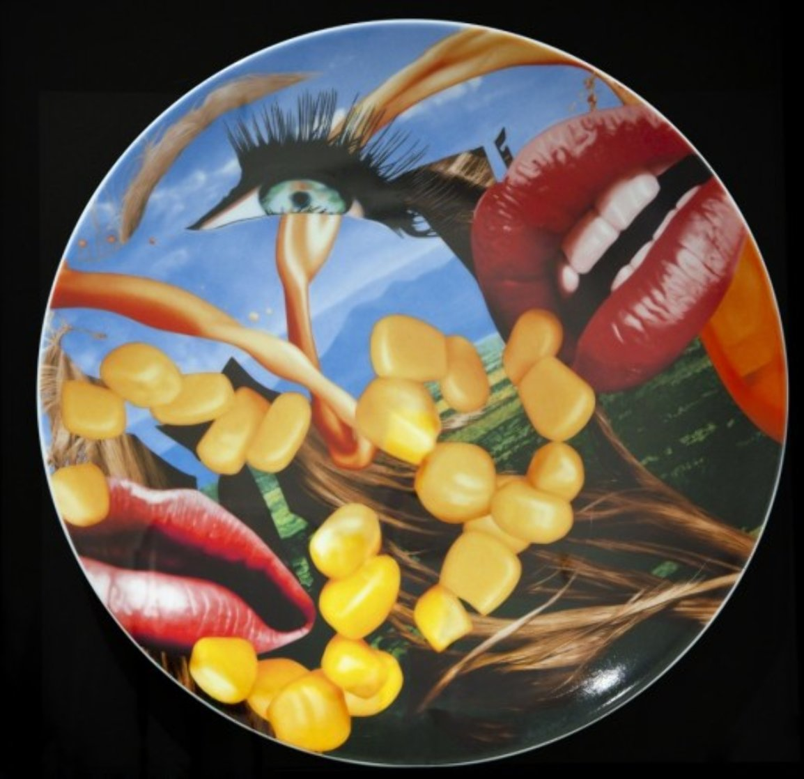 Lips Porcelain Plate 2012 Limited Edition Print by Jeff Koons