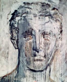 Head of a Young God 1997 74x57 Original Painting - Valery  Koshlyakov