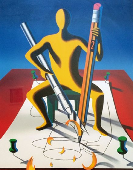 Careful With That Axe Eugene 2001 Limited Edition Print by Mark Kostabi