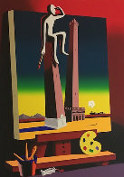Loophole With a View 2001 Limited Edition Print by Mark Kostabi - 2