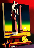 Loophole With a View 2001 Limited Edition Print by Mark Kostabi - 0