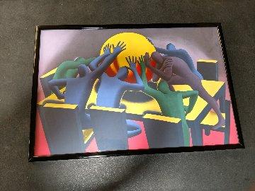 Earth Inc 1990 Limited Edition Print by Mark Kostabi