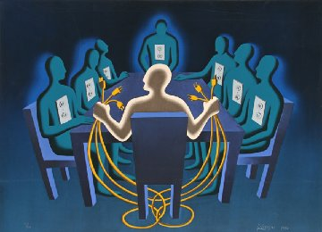 Current Exchange 1990 Limited Edition Print by Mark Kostabi