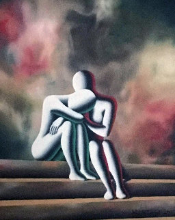 Eve of Destruction 2007 22x20 Original Painting - Mark Kostabi