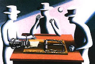 Art of the Deal  Iron Fist 1993 38x26    Limited Edition Print by Mark Kostabi - 0