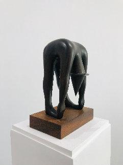 Body By Jake Bronze Sculpture 1989 10 in  Sculpture - Mark Kostabi