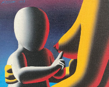 Instructions Not Included 1994 12x14 Original Painting by Mark Kostabi