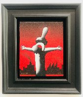 Great Pacifier Industrialization, Industrial Town 1994 14x12 Original Painting by Mark Kostabi - 1