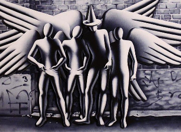Spirits of New York 3-D 2015 Limited Edition Print - Mark Kostabi