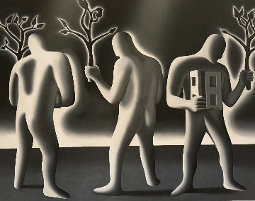 Symbolic, Imaginary And the Real 1988 68x88 Original Painting - Mark Kostabi