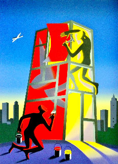 Without Title 2001 Limited Edition Print - Mark Kostabi