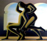Golden Kiss 1995 Limited Edition Print by Mark Kostabi - 0