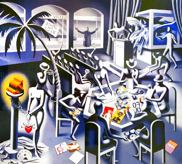 Impossibility of Death in the Mind of a Cash Resister 2013 Limited Edition Print - Mark Kostabi