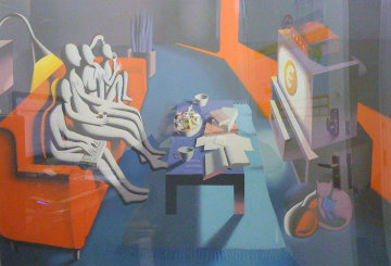 Untitled Lithograph 33x45 Super Huge Limited Edition Print - Mark Kostabi