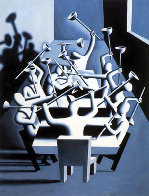 Upheaval 1994 44x33 Super Huge  Limited Edition Print by Mark Kostabi - 0