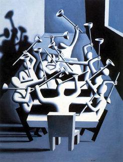 Upheaval 1994 44x33 Huge  Limited Edition Print - Mark Kostabi