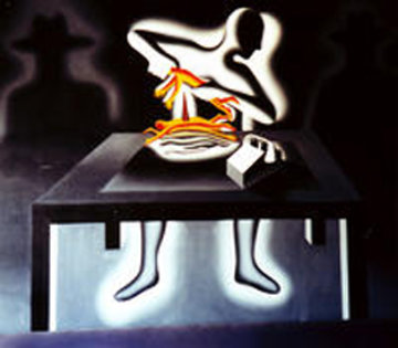 Staff of Life 72x60 Original Painting - Mark Kostabi