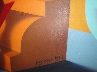 Three Graces 40x60 Super Huge Original Painting by Mark Kostabi - 1