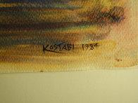 Ammunition Watercolor 1984 33x27 Watercolor by Mark Kostabi - 2