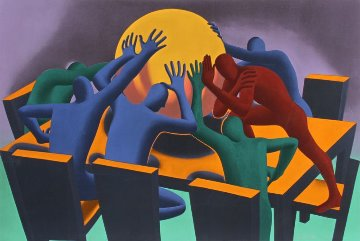 Earth Inc. 1990 Limited Edition Print - Mark Kostabi