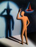 Foreshadowing 1992 Original Painting - Mark Kostabi