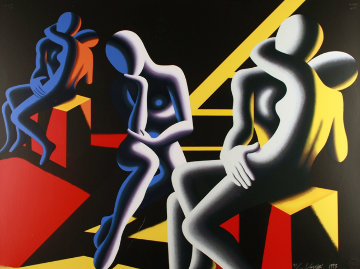 Languor of Love 1993 29x39 Super Huge  Limited Edition Print - Mark Kostabi