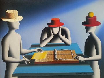 Art of the Deal Risky Business 2013 25x33 Original Painting - Mark Kostabi