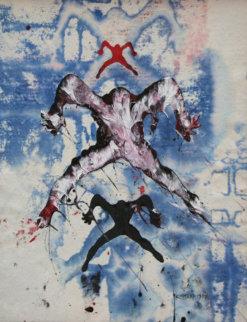 Journey Beyond the Self 1997 28x22 Original Painting - Mark Kostabi