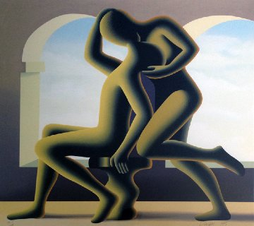 Golden Kiss 1995 Limited Edition Print - Mark Kostabi