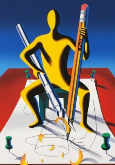 Careful With That Ax, Eugene 2001 Limited Edition Print by Mark Kostabi
