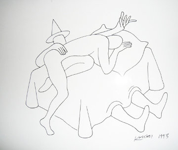 New Position Drawing 1993 Works on Paper (not prints) - Mark Kostabi
