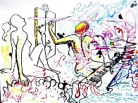Out of Line Drawing 2012 37x47 Huge Drawing by Mark Kostabi - 0