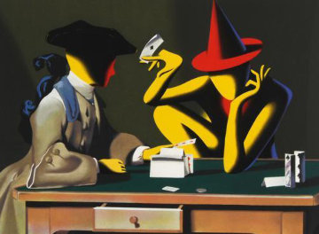 Chance Encounter 2001 Limited Edition Print - Mark Kostabi