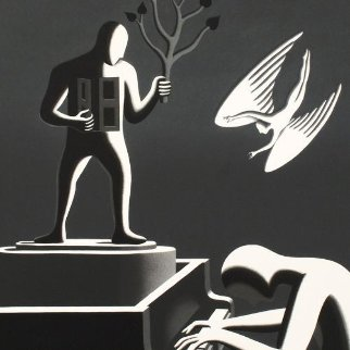 Cyclone Variations Limited Edition Print by Mark Kostabi