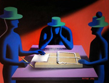 Art of the Deal 1996 30x40 Original Painting by Mark Kostabi