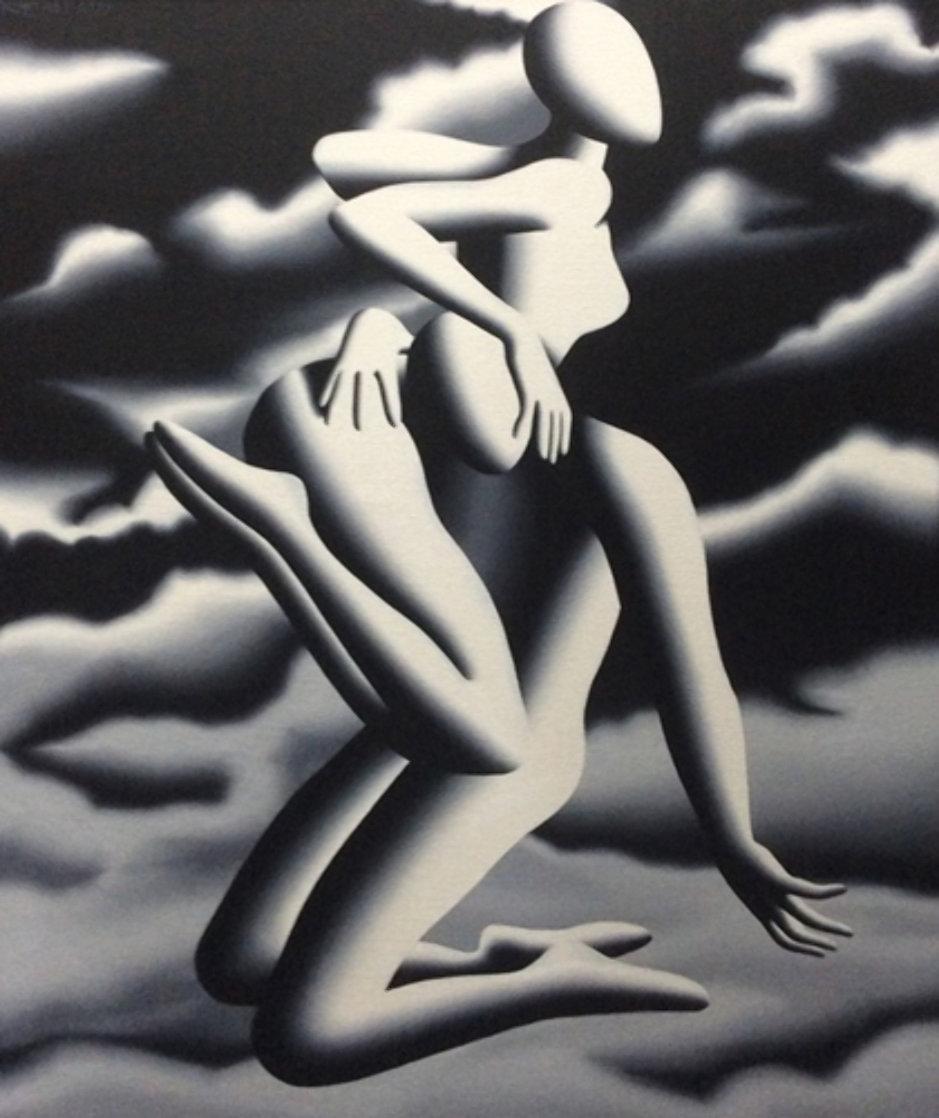 Prelude to Vertigo 1999 37x31 Original Painting by Mark Kostabi
