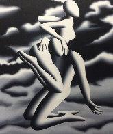 Prelude to Vertigo 1999 37x31 Original Painting by Mark Kostabi - 0