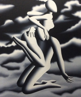 Prelude to Vertigo 1999 37x31 Original Painting - Mark Kostabi