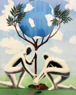 Give Leaves a Chance Limited Edition Print by Mark Kostabi