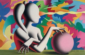 Channeling the Infinite 2015 8x12 Original Painting - Mark Kostabi