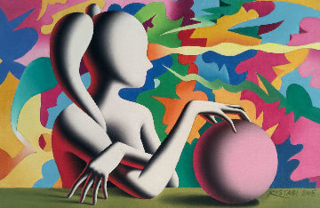 Channeling the Infinite 2015 8x12 Original Painting by Mark Kostabi