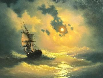 Storm 2017 28x36 Original Painting - Vladimir Koval